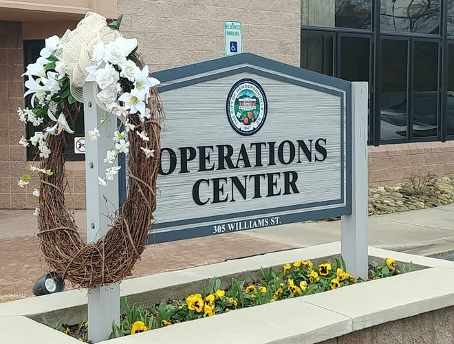 A wreath was placed at the Hendersonville City Operations Center last year to honor Environmental Services employee Joshua Hensley, who died Feb. 14, 2020, after he was struck by a garbage truck.