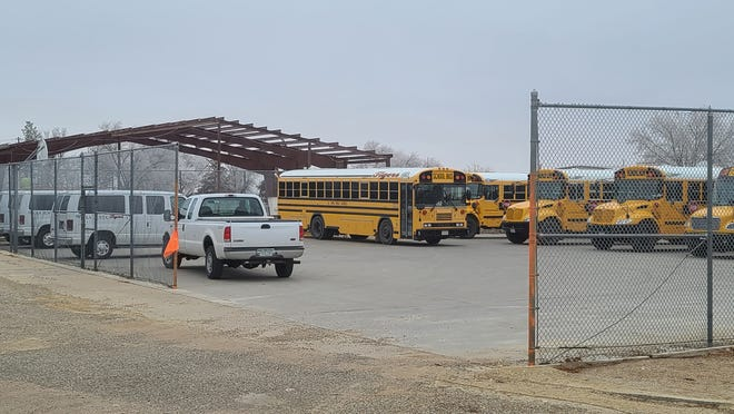 The new East Otero Bus Barn is beginning to take shape, as Supt. Rick Lovato discussed at the Monday school board meeting.