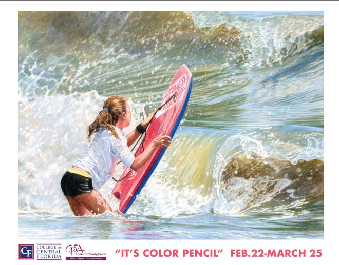 """The College of Central Florida's """"It's Color Pencil"""" exhibition, in partnership with the Color Pencil Society of America, opens Feb. 22, in the Webber Gallery at the CF Ocala Campus."""