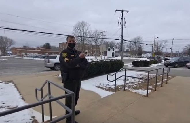 """Throughout the video, the YouTuber taunts employees and police officers and tells his followers to """"not call Hampton police or town offices for depriving my rights"""" and """"that YouTube is going to be all over it."""""""