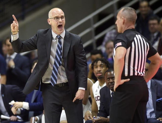 Dan Hurley, the current UConn coach and former URI boss, will lead the Huskies against the Friars in the first regular-season game between the teams since 2013. The teams play on Wednesday at PC's Alumni Hall.