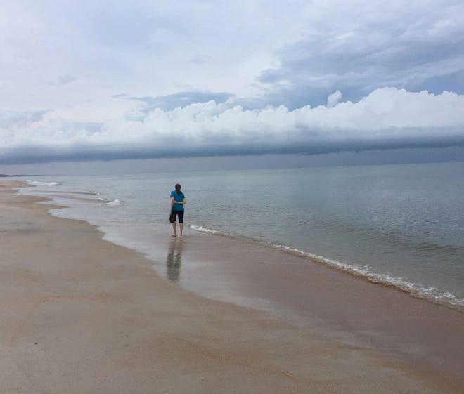Quiet ocean at Vilano.