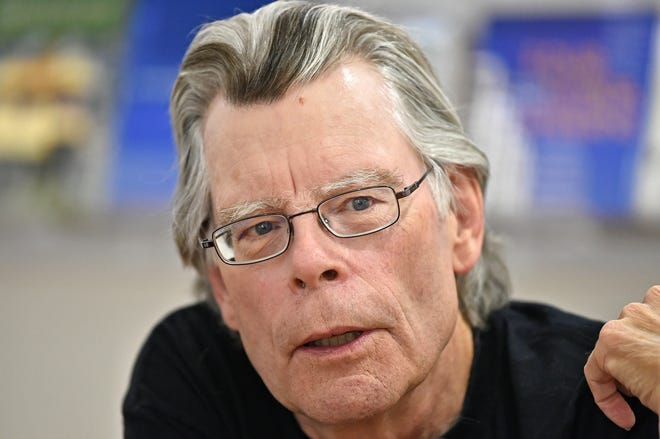 Author and Casey Key resident Stephen King, pictured here during a sold-out 2017 Bookstore1Sarasota signing, said on social media that he recently received the COVID-19 vaccine in Pasco County.