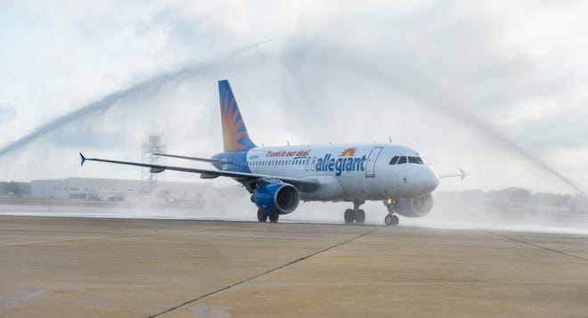 Allegiant Air will start flying between the Sarasota-Bradenton area and Concord, North Carolina, in May.