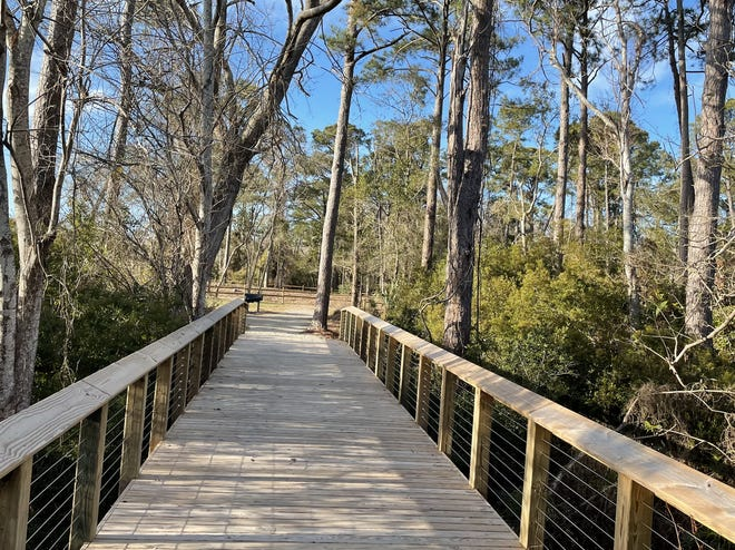 A new bridge anchors the Joseph Ryder Lewis Jr. Civil War Park in Carolina Beach, where Sugar Loaf earthworks are preserved on land donated by the park's late namesake.