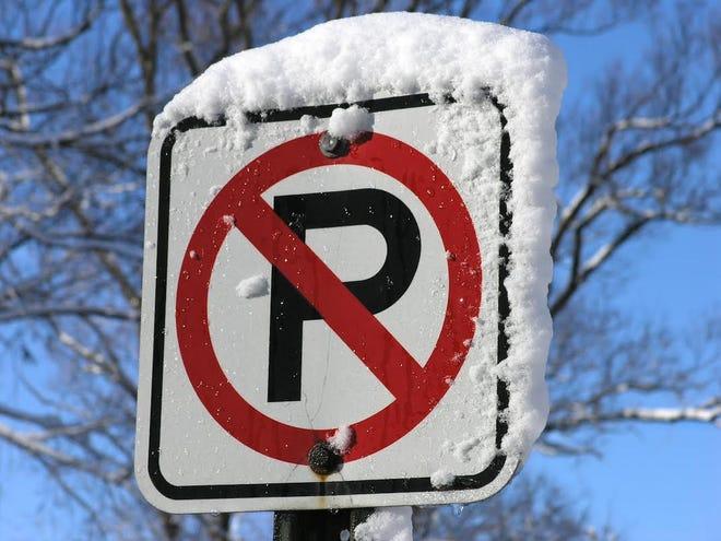 Parking ban sign