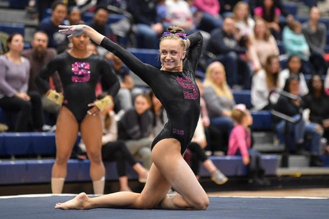 Penn State gymnast Cassidy Rushlow recently posted her fourth career all-around victory, her third this season.