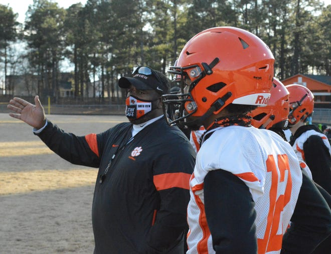 On the first official day of football practice for NCHSAA teams, South View football coach Rodney Brewington discussed the six-month wait and the challenges entering a February season.