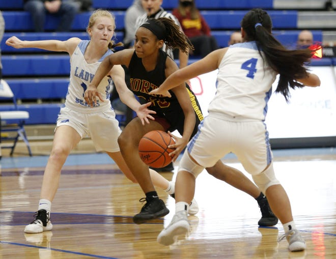 Kayla Curry-Brown helped the North girls basketball team capture the OCC-Capital championship. It's the Warriors' first league title since 2014. North is seeded fourth for the Division I district tournament.