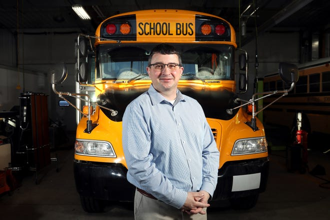 Randy Snyder, Westerville City Schools transportation manager, is shown Feb. 3 at the district's transportation facility. A bus-driver shortage within the district has led to some school buildings canceling in-person classes due to a lack of transportation.