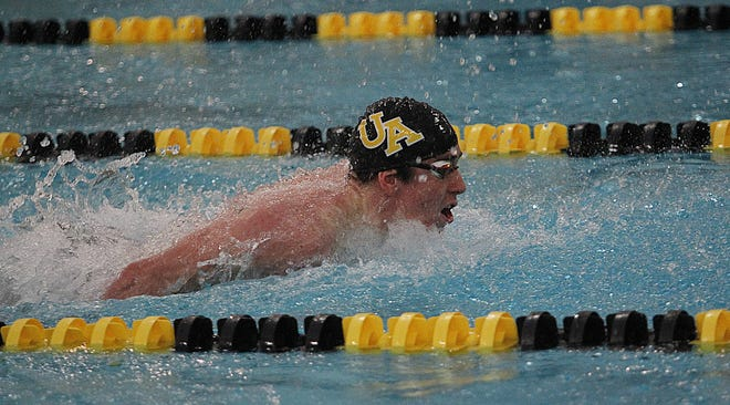 Upper Arlington's Avery Voss is the defending Division I district champion in the 50 and 100 freestyle events, but his top goal is the state team title for the Golden Bears.