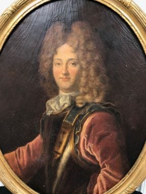 The Duke of Orleans painting needs restoration. Townspeople can contribute to the project.