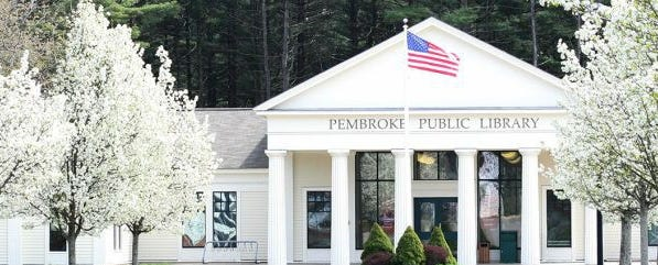 Pembroke Public Library is located at 142 Center St. For more information, visit http://pembrokepubliclibrary.org.