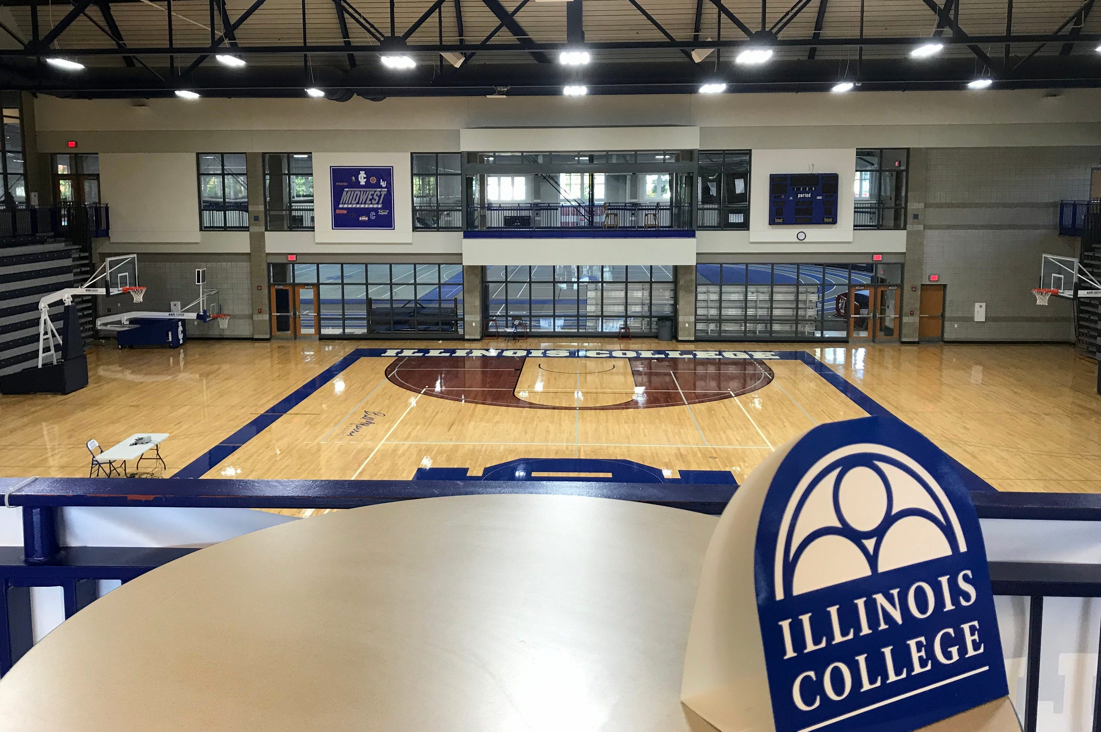The fieldhouse at Illinois College.