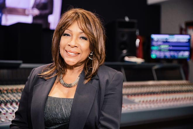Mary Wilson, founding member of the Supremes, poses on the roof of Capitol Records on June 12, 2014, in Hollywood.