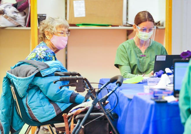 The Cascade County Board of Health passed a mask mandate and limited capacity at events at a special meeting held Wednesday night. The above photo is from the Montana Veterans Affairs Health System vaccination clinic.