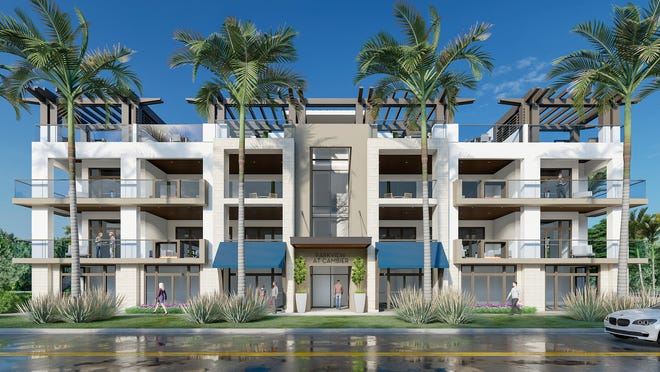 Parkview at Cambier, a four-unit luxury residential condominium development under construction at 675 Eighth Street South in Olde Naples (artists' rendering).