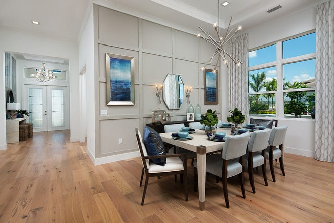 The Cedar Key model features a dedicated dining space, a feature that buyers prefer, and one that is included in home designs at Sapphire Cove.