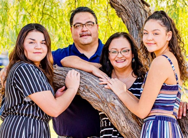 From left, Elise, Anthony, Veronica and Nissa Teran