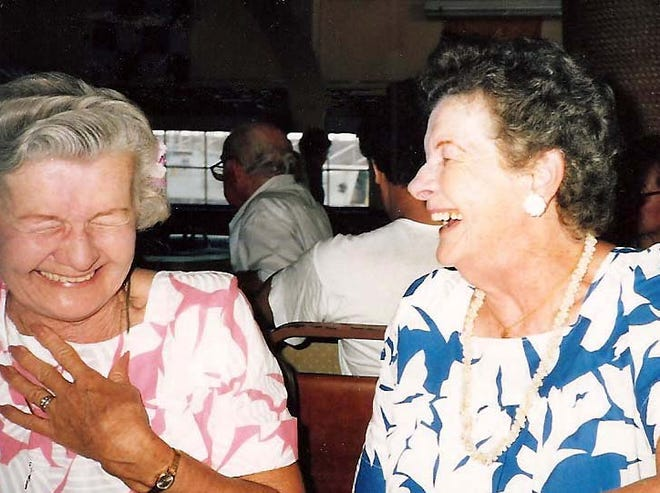 Whenever sisters Bobbie Snider and Jean Coppins were together, they would giggle like they were girls. It was contagious, Jean's daughter, Judy Neisch, said.