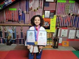 Lebanon's Joshua Aguirre has been busy, piling up more international taekwondo championships via Zoom.