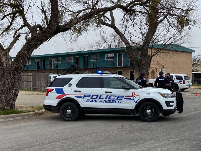 San Angelo police investigate a shooting at 17 W. 31st Street on Feb. 9, 2021.