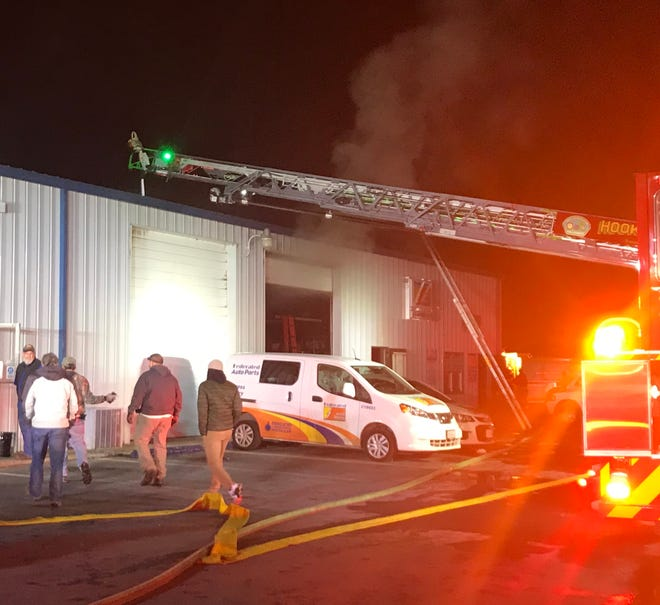 A fire was reported Monday night at a Fisher Auto Parts store in Verona.