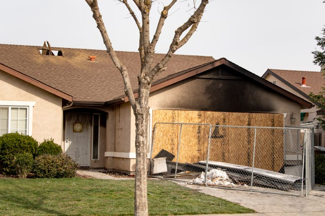 A home in the 3200 block of West Sedona Street was partially damaged in a fire on Sunday, February 7, 2021.