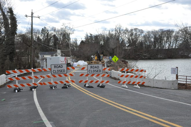 Silver Lake Road in Middletown is closed at the bridge during repairs to the bridge and spillway through June 25.