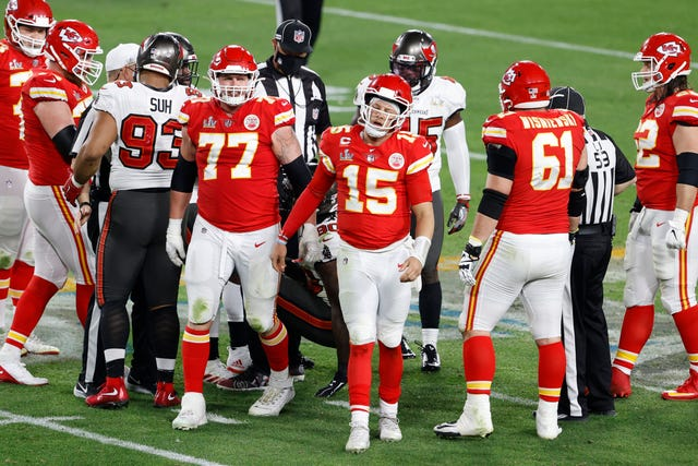 3. Chiefs (1): With a little luck, their decimated offensive line could be restored – perhaps even improved – to its previous Super Bowl 54 level. For Patrick Mahomes' sake, it needs to be.