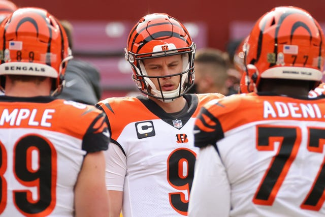 27. Bengals (27): QB Joe Burrow's recovery from a torn ACL appears on track. Now Cincy needs to get the rebuild of the O-line in front of him on track.