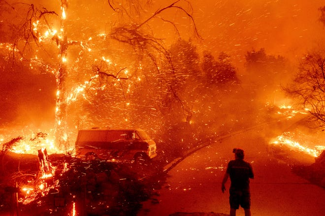 Fires on Dec. 3, 2020, in Orange County, California.