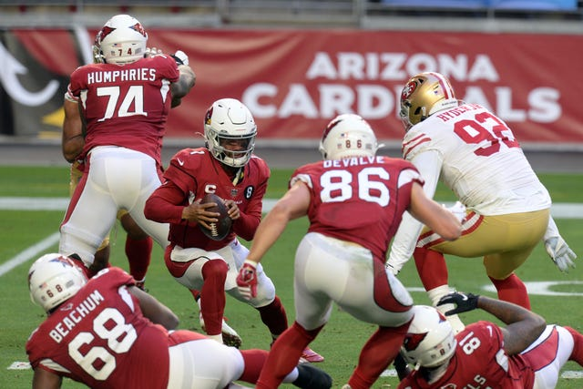 13. Cardinals (14): If you're into interpreting retweets, sure seems like QB Kyler Murray would like Arizona to start reinvesting in the trenches.