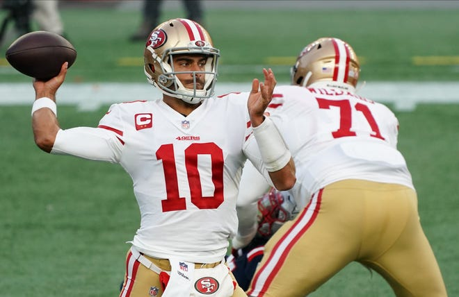 By trading up to the No. 3 pick in the NFL Draft, it could mean the 49ers are eyeing a quarterback and that current 49ers starter Jimmy Garoppolo could be on the way out.