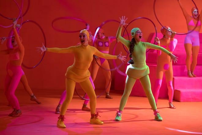 "Kate Hudson, left, and Maddie Ziegler star in Sia's Razzie-winning musical drama ""Music."""