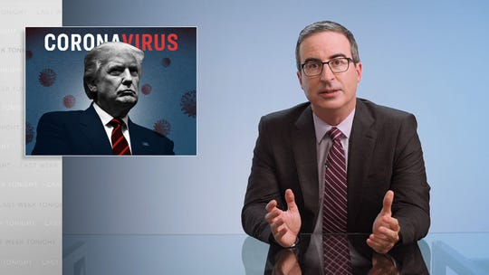 John Oliver devoted much of HBO's 'Last Week Tonight' in 2020 to Donald Trump and the coronavirus pandemic.  He's hoping to take it down a notch this year.