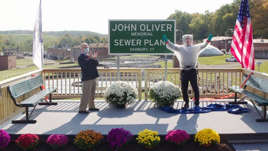 "The mayor of Danbury, Conn., ""memorialized"" a still-alive John Oliver by naming a sewage treatment plant after him following an extended dare on HBO's 'Last Week Tonight.'"