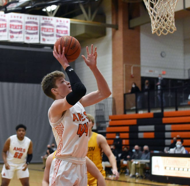 Ames senior Patrick Krapfl, seen here putting up a shot against Ankeny earlier  in the season, and the rest of the No. 6 Little Cyclones rolled to a 63-43 win over Southeast Polk Tuesday in Altoona.