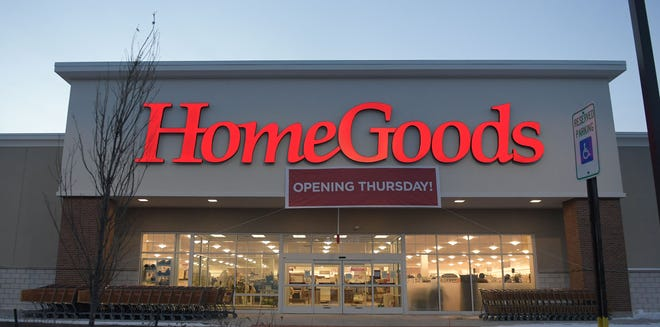 The HomeGoods store at 1505 Buckeye Ave. is opening Thursday, Feb. 11, 2021. The photo was taken on Tuesday, Feb. 9, 2021.