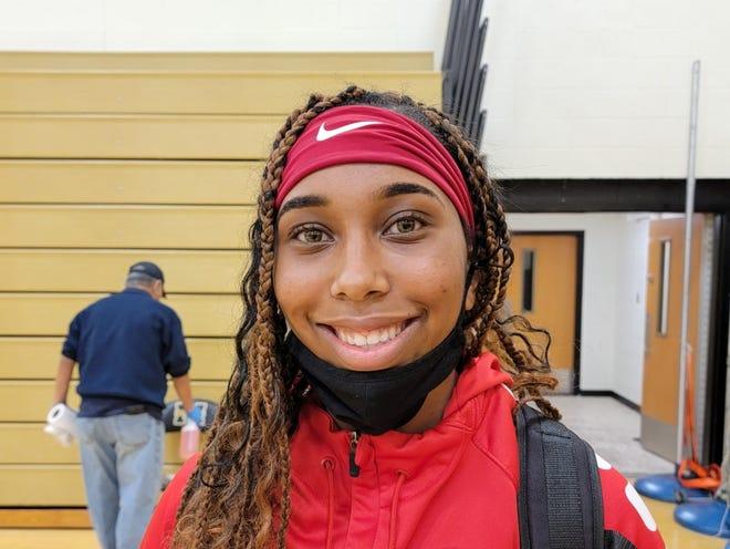 Rancocas Valley senior Kylie Bradford is a forward on the 2021 Red Devils basketball team