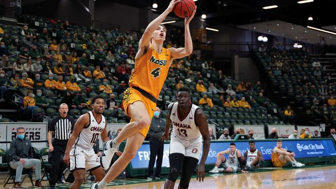 Devils Lake alumnus Grant Nelson has begun to shine bright early of for North Dakota State basketball. He has started five games this season.