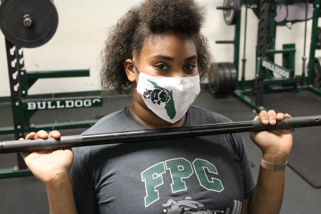 Flagler Palm Coast junior Annie Buchanan is the favorite to win the Class 3A state championship in the 199-pound weightlifting division this weekend.