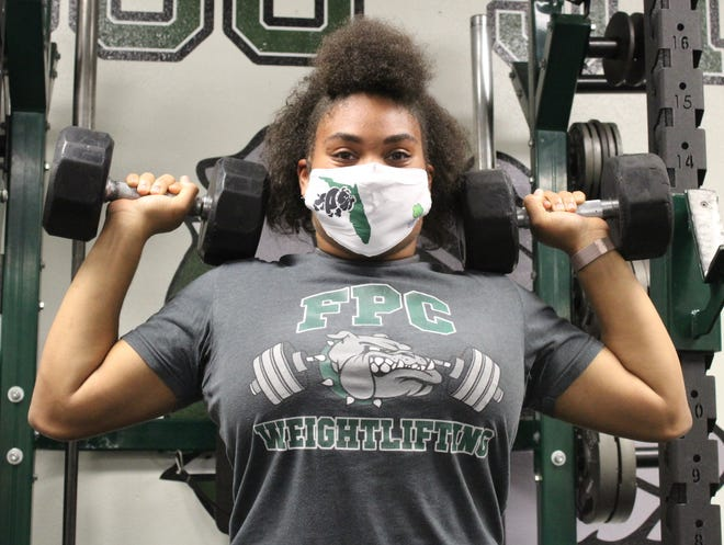 Annie Buchanan became Flagler Palm Coast's third individual state girls' weightlifting champion Saturday, with a 450-pound total.