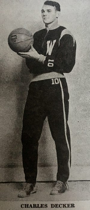 Waymart High School superstar Charley Decker dominated the local boys varsity basketball team in the late 1940s and early 1950s. Decker finished his career as the Wayne County League's all-time leading scorer with a total of 1,634 points.