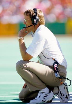 Kansas City Chiefs head coach Marty Schottenheimer on the sideline.