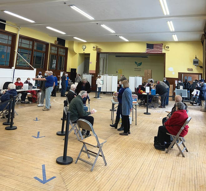 A clinic sponsored by the Gardner Senior Center distributed about 230 doses of COVID-19 vaccine at the former Prospect Street School on Wednesday, Feb. 10.
