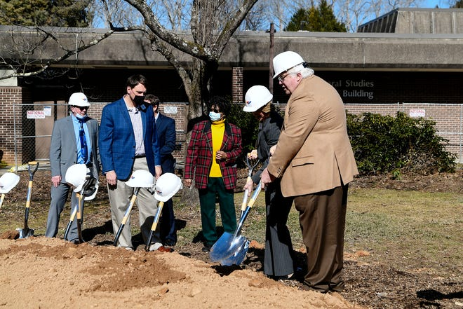 Blue Ridge Community College held a groundbreaking ceremony for their Patton Project February 10, 2021.