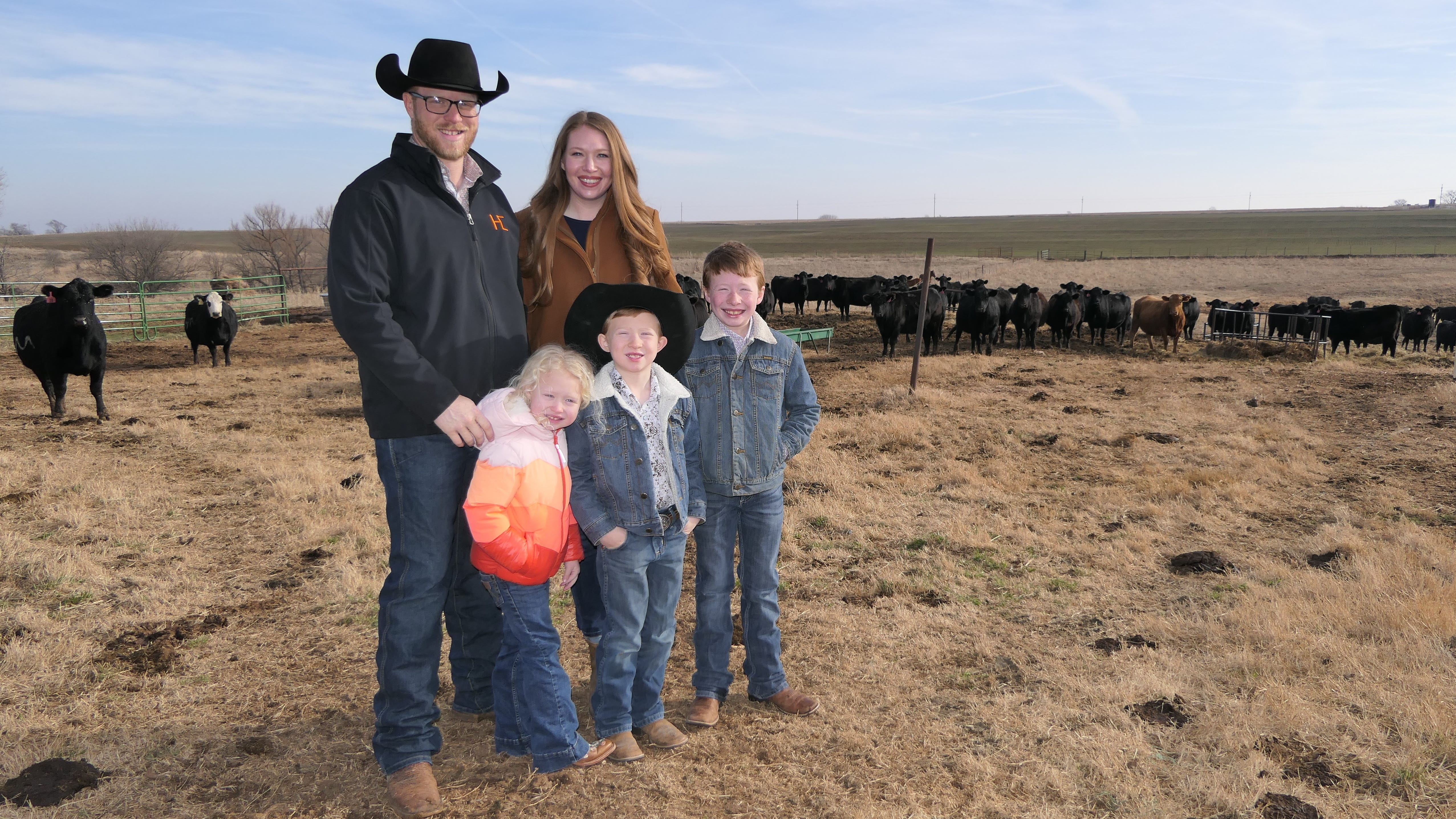 A farmer's wife shares her family with the world