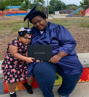 Sharika Lender of Kinston recently earned her associate degree in Early Childhood Education with help from the WIOA program at Lenoir Community College [CONTRIBUTED PHOTO]