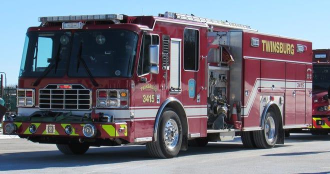 Twinsburg fire truck, stock photo